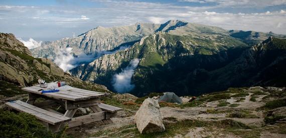 Die Berge in Korsika