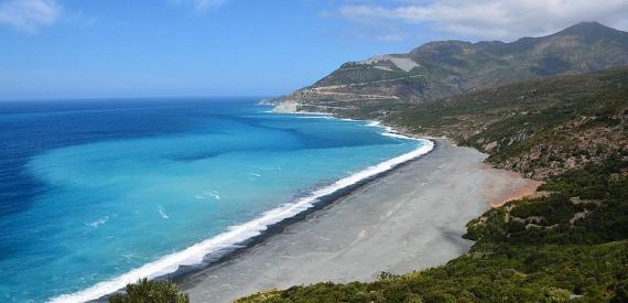 Korsika Der schwarze Strand von Nonza