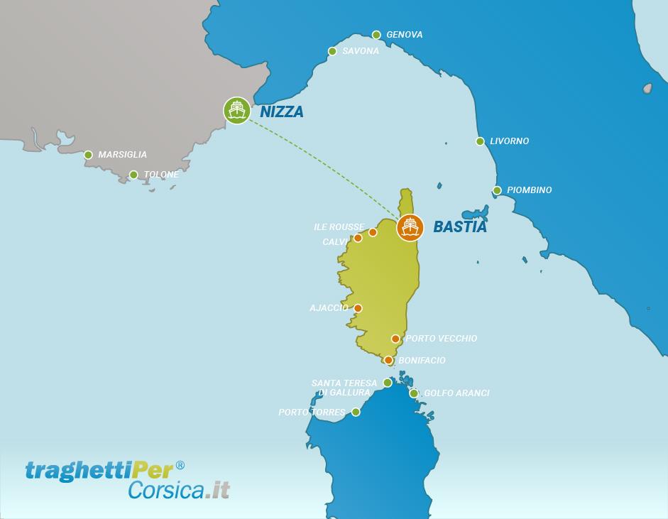 Fahren von Nizza nach Bastia