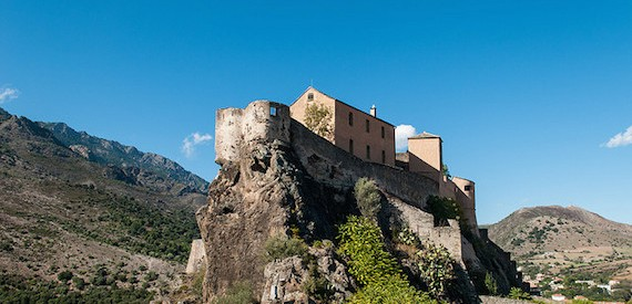 The castle in the citadel of Corte
