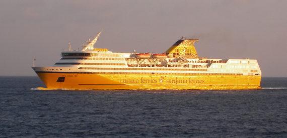 Corsica ferry or plane