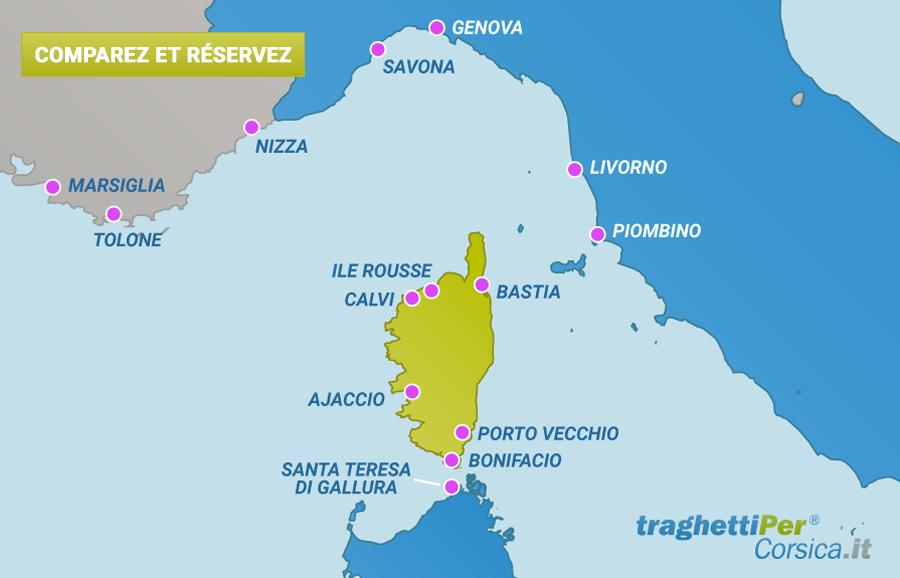 Carte Ferry Corse Italie.Ferry Corse Comparez Les Prix Des Traversee En Ferry Pour