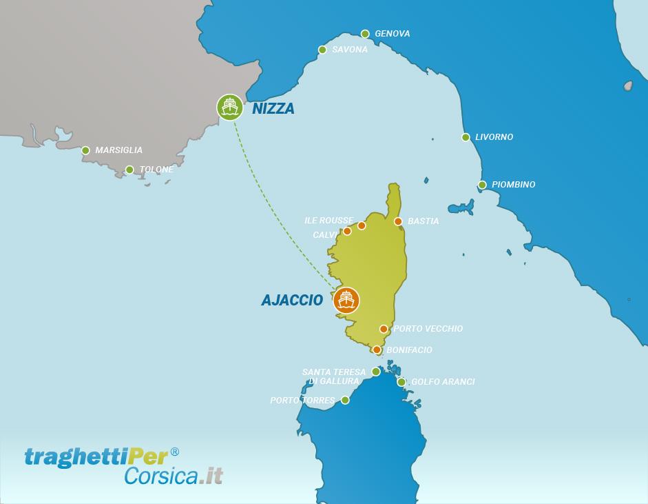 Traversée de Nice à Ajaccio
