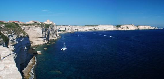 una panoramica sulle Bocche di Bonifacio