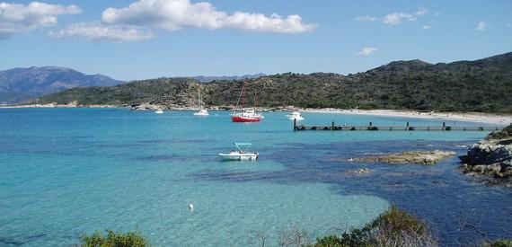 Korsika, der Strand von Lodo